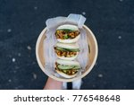 bao buns in plate   Shutterstock . vector #776548648