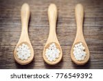three woodens spoon of...   Shutterstock . vector #776549392