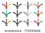 set of three way directional... | Shutterstock .eps vector #776554636