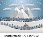 winter background  landscape...   Shutterstock .eps vector #776554912