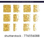 set of brush stipple gold... | Shutterstock . vector #776556088