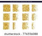 set of brush stipple gold... | Shutterstock . vector #776556088