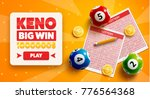 lottery banners with realistic...   Shutterstock .eps vector #776564368