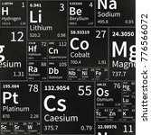 chemical elements table on... | Shutterstock .eps vector #776566072