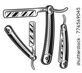 straight razor set of three... | Shutterstock .eps vector #776569045