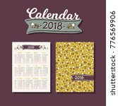pocket calendar 2018 with... | Shutterstock .eps vector #776569906