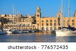 the yachts and boats moored in... | Shutterstock . vector #776572435