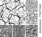 retro black and white seamless... | Shutterstock .eps vector #776572462