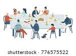 christmas vector illustration... | Shutterstock .eps vector #776575522