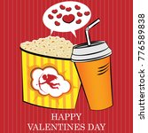fast food on valentine's day | Shutterstock .eps vector #776589838