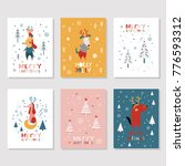 christmas illustrations with... | Shutterstock .eps vector #776593312