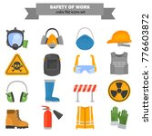 safety work color flat icons... | Shutterstock .eps vector #776603872