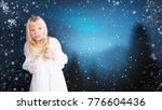 little girl with snowflakes | Shutterstock . vector #776604436