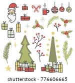 christmas elements  vector | Shutterstock .eps vector #776606665