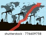 oil pumps and growth graph with ... | Shutterstock .eps vector #776609758