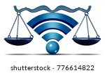 net neutrality symbol or open... | Shutterstock . vector #776614822