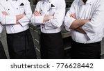 contestants of a tv cooking... | Shutterstock . vector #776628442