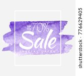 watercolor special offer  super ... | Shutterstock .eps vector #776629405