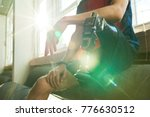 close up of amputee sportsman...   Shutterstock . vector #776630512