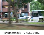 blur motion of bus driving on... | Shutterstock . vector #776633482