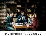 business team discussing a...   Shutterstock . vector #776633632