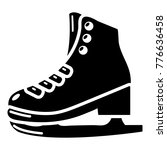 skates icon. simple... | Shutterstock .eps vector #776636458