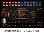 set of modern head up display... | Shutterstock .eps vector #776637736