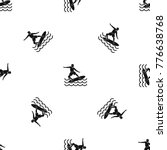 surfer man pattern repeat... | Shutterstock .eps vector #776638768