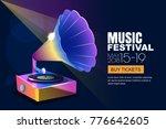 vector music jazz festival ... | Shutterstock .eps vector #776642605