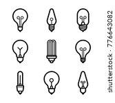 lightbulbs icon set | Shutterstock .eps vector #776643082