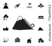 avalanche icon. set of natural... | Shutterstock .eps vector #776649412