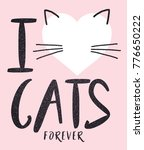 cute cat graphic for t shirt | Shutterstock . vector #776650222