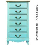 vintage wooden turquoise chest...   Shutterstock . vector #776651092