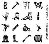 orthopedist bone tools icons... | Shutterstock .eps vector #776653072