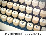 vintage old typewriter keyboard ... | Shutterstock . vector #776656456