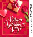 romantic valentine card with... | Shutterstock .eps vector #776657782