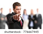 man pointing his finger at you | Shutterstock . vector #776667445