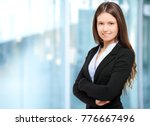 smiling young businesswoman...   Shutterstock . vector #776667496