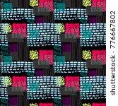 memphis seamless  pattern in... | Shutterstock .eps vector #776667802