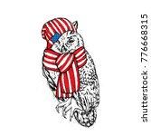 beautiful owl. vector... | Shutterstock .eps vector #776668315