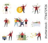 rich characters who spend money ... | Shutterstock .eps vector #776672926