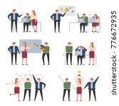 business meetings with... | Shutterstock .eps vector #776672935