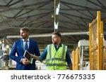portrait of young workman... | Shutterstock . vector #776675335