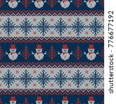 knitted seamless pattern with... | Shutterstock .eps vector #776677192
