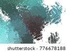brushed painted abstract... | Shutterstock . vector #776678188