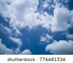 blue sky with white clouds...   Shutterstock . vector #776681536