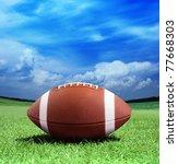 football on arena near the 50... | Shutterstock . vector #77668303