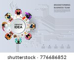 idea concept for business... | Shutterstock .eps vector #776686852