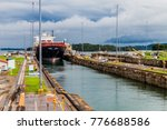 container ship is  passing... | Shutterstock . vector #776688586