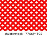 red maple canada seamless... | Shutterstock .eps vector #776694502